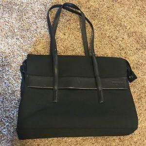 Tumi leather and nylon briefcase bag